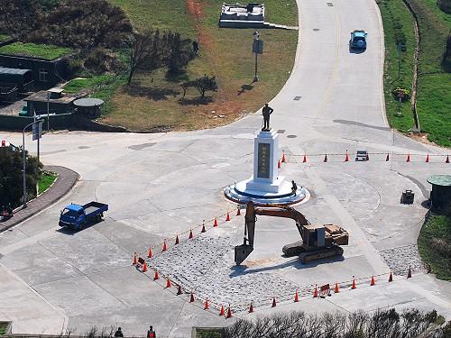 東引精神堡壘圓環道路整建 工期60至80天  照片