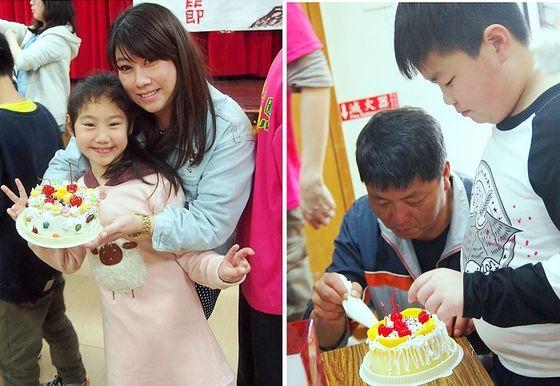 親子動手做蛋糕、相框同樂 東引國小「感恩季」活動,洋溢溫馨  照片