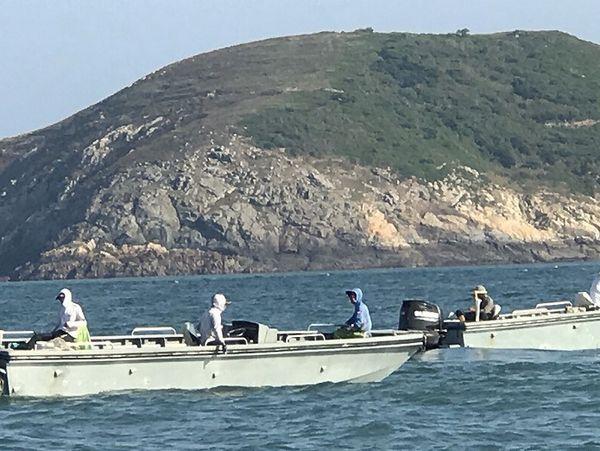大陸高速釣魚船再度入侵北竿海域  照片