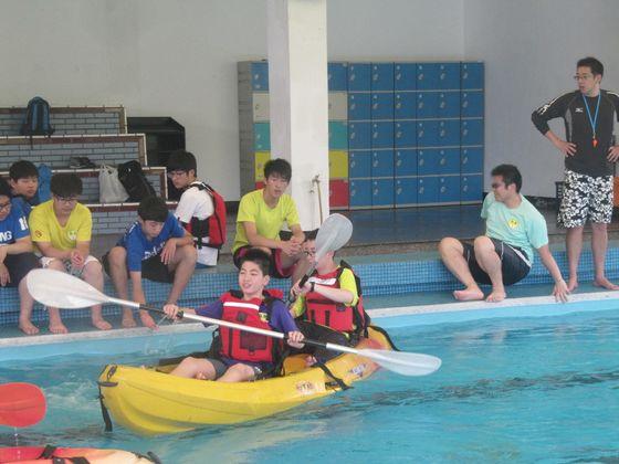 辦理環境教育主題活動-獨木舟教學  圖片