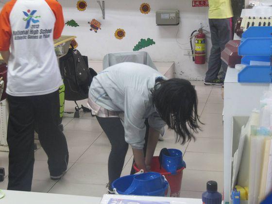 環境清潔+消毒  照片